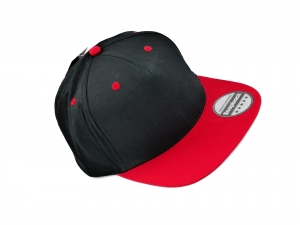 CHILDREN'S FULL CAP BLACK RED