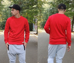 SWEATSHIRT CLASSIC STYLE - RED COLOR