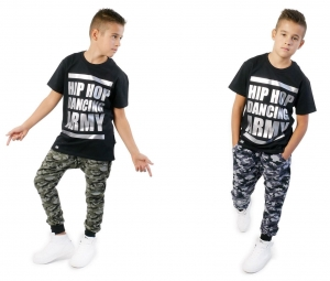 CAMO CHILDREN'S SWEATPANTS WITH LOWERED CROTCH