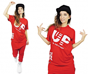 LOOSE RED T-SHIRT FOR KIDS, FEEL UP