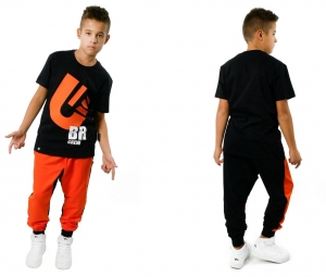 SWEATPANTS FOR CHILDREN HIP HOP CREW FRONT AND BACK COLOUR  (1)